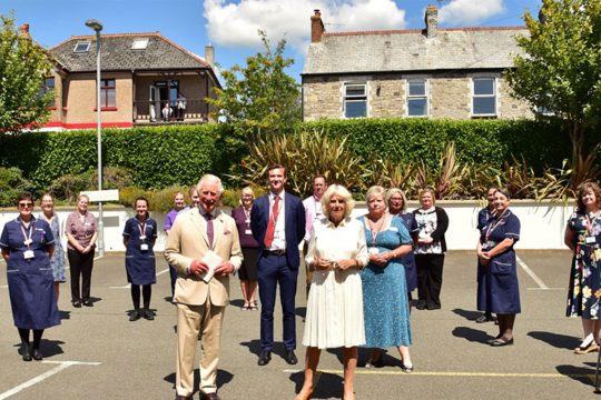 Duke and Duchess of Cornwall visit St Austell GP surgery