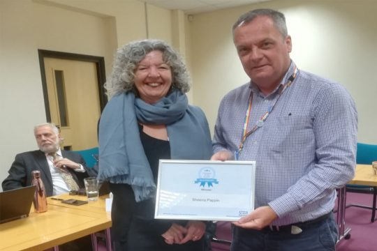 Practice manager wins colleague of the quarter award